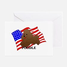 Poodle USA Greeting Card