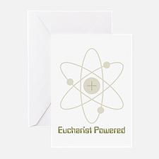 eucharistpowered_dark Greeting Cards
