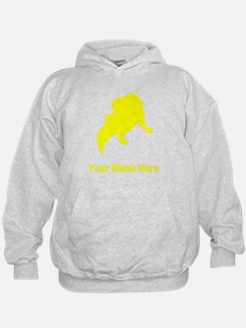 Protoceratops Silhouette (Yellow) Hoodie