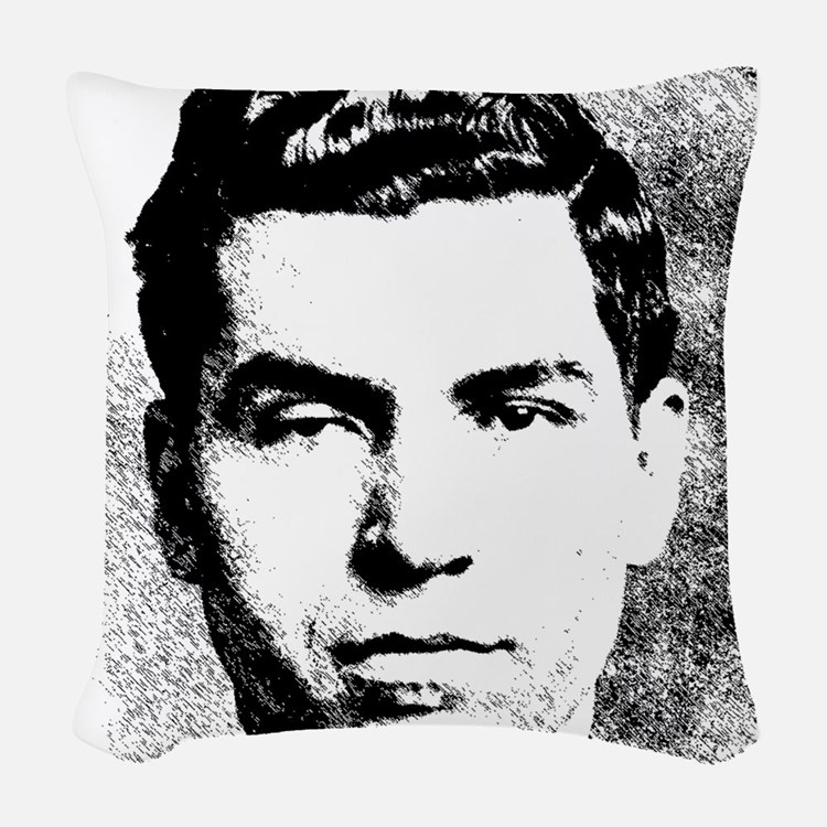 Mafia Gangster, Lucky Luciano Woven Throw Pillow