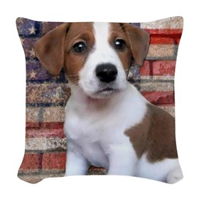 Jack Russell Terrier Woven Throw Pillow