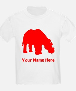 Uintatherium Silhouette (Red) T-Shirt