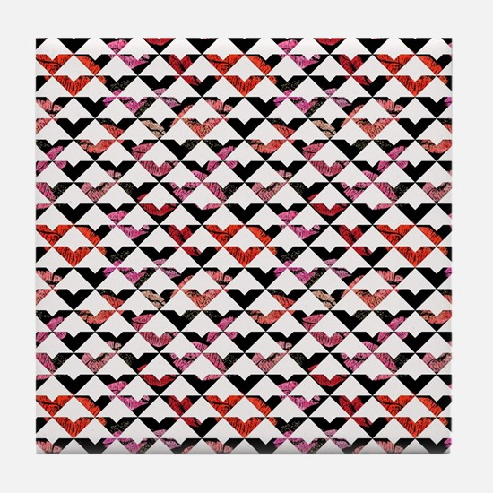 Modern Chic Bold Triangles Tile Coaster