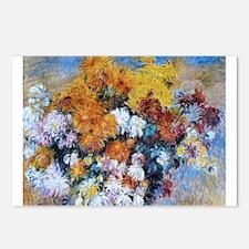 Renoir Chrysanthemums Postcards (Package of 8)