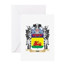 Cid Coat of Arms - Family Crest Greeting Cards