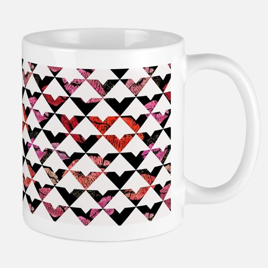 Modern Chic Bold Triangles Mugs