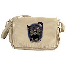 Edgar Allan Poe Black Cat Messenger Bag