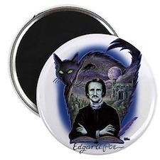 Edgar Allan Poe Black Cat Magnet
