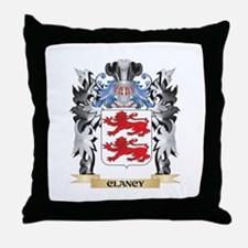 Clancy Coat of Arms - Family Crest Throw Pillow