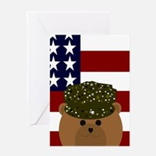 Usarmy Soldier Camo Use Your Words Greeting Cards