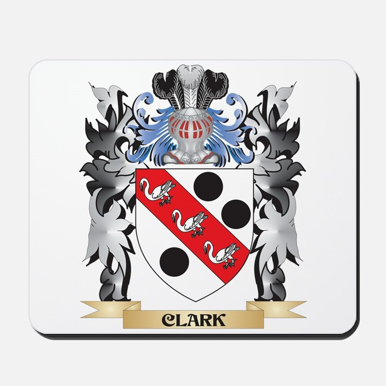 Clark Coat of Arms - Family Crest Mousepad