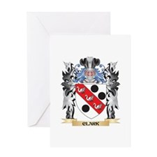 Clark Coat of Arms - Family Crest Greeting Cards