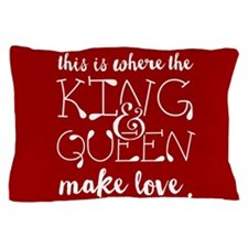Fun King and Queen Mr. & Mrs. Pillow Case
