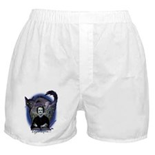 Edgar Allan Poe Black Cat Boxer Shorts