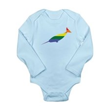 Gay Narwhal Rainbow Body Suit