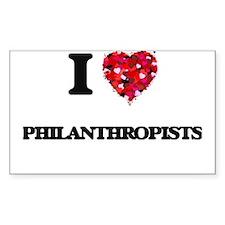 I love Philanthropists Decal