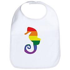Gay Seahorse Rainbow Bib