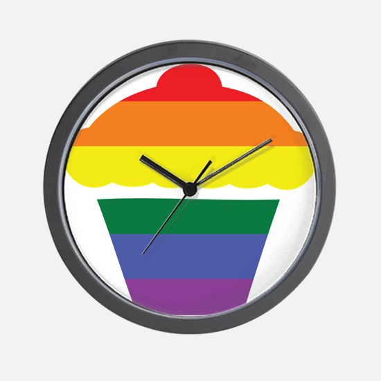 Gay Cupcake Rainbow Wall Clock