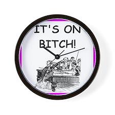 billiards joke Wall Clock