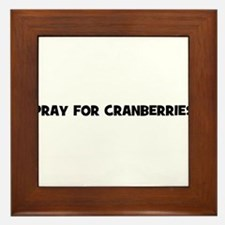 pray for cranberries Framed Tile