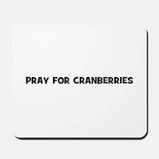 pray for cranberries Mousepad
