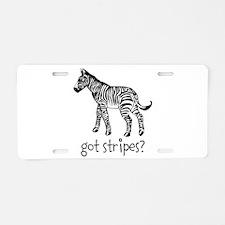 Got Stripes Aluminum License Plate