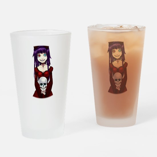 Creepy Goth Drinking Glass