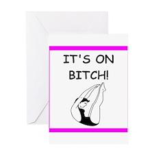 diving joke Greeting Cards
