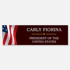 Carly Fiorina for President V3 Sticker (Bumper)
