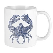 Vintage Crab Print Mug