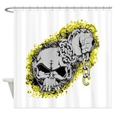 Skull with chain Shower Curtain