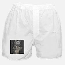 Elegant Floral Boxer Shorts