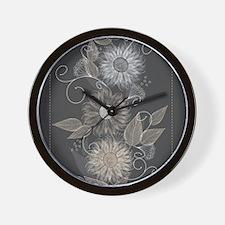 Elegant Floral Wall Clock
