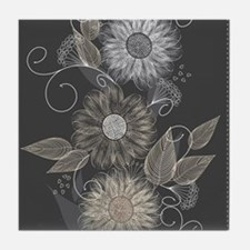 Elegant Floral Tile Coaster