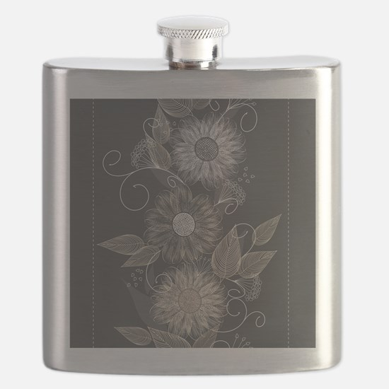 Elegant Floral Flask