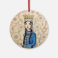 Armenian Queen Ornament (Round)