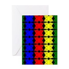 Afrocentric design Greeting Cards