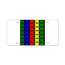 Afrocentric design Aluminum License Plate