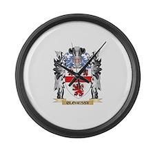 Clohessy Coat of Arms - Family Cr Large Wall Clock