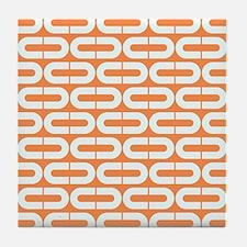 Cute Orange Tile Coaster