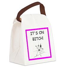 Cute Racquetball Canvas Lunch Bag
