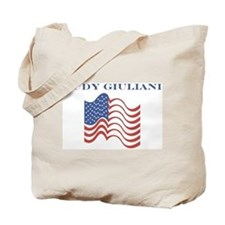 Rudy Giuliani (american flag) Tote Bag