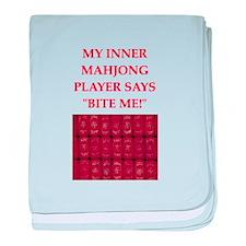 mahjong joke baby blanket