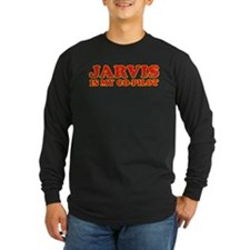Jarvis is my co-pilot Long Sleeve T-Shirt