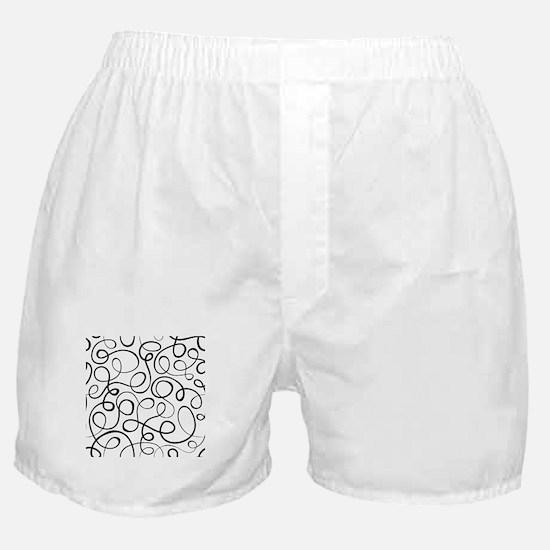 Swirls Pattern Boxer Shorts
