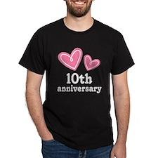 10th Anniversary Hearts T-Shirt