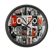 I Luv London Large Wall Clock