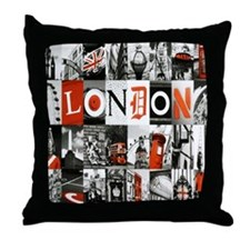 I Luv London Throw Pillow