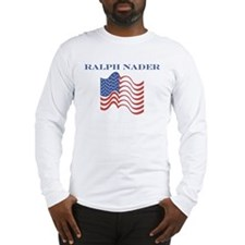 Ralph Nader (american flag) Long Sleeve T-Shirt