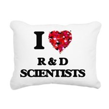 I love R & D Scientists Rectangular Canvas Pillow